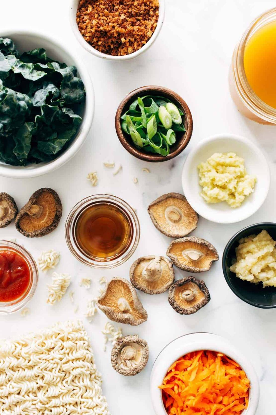 Ingredients for Quick Homemade Ramen