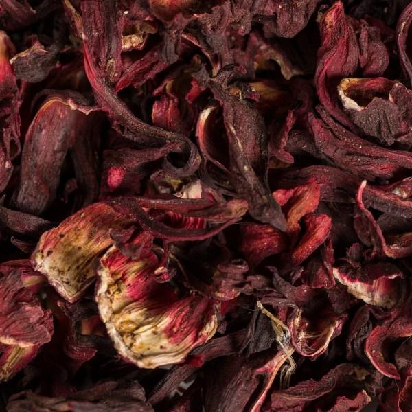 organic Egyptian hibiscus tea flowers