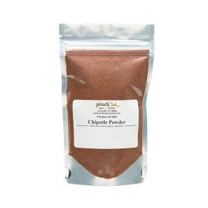 bag of organic chipotle powder for cooking