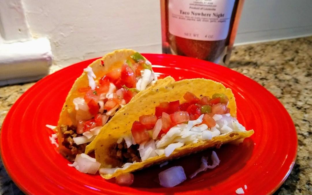 Tuesday Night Tacos, Featuring Taco Town Mild Taco Seasoning
