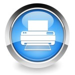 Blue printer icon