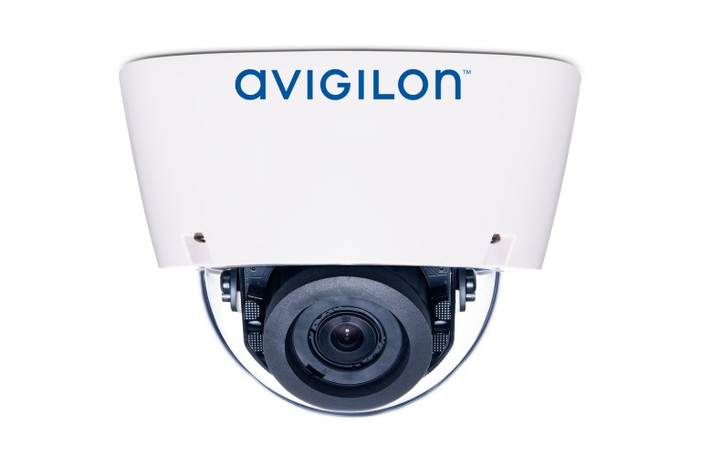 Avigilon H5A dome camera with IR illuminators (side view)