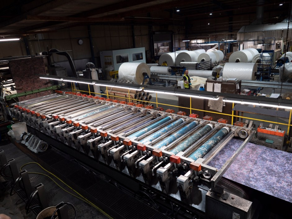 Fabric dyeing factory