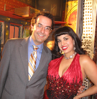 Rick Delaup and 2010 Queen of Burlesque Coco Lectric