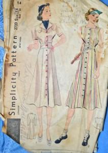 1940's dress pattern