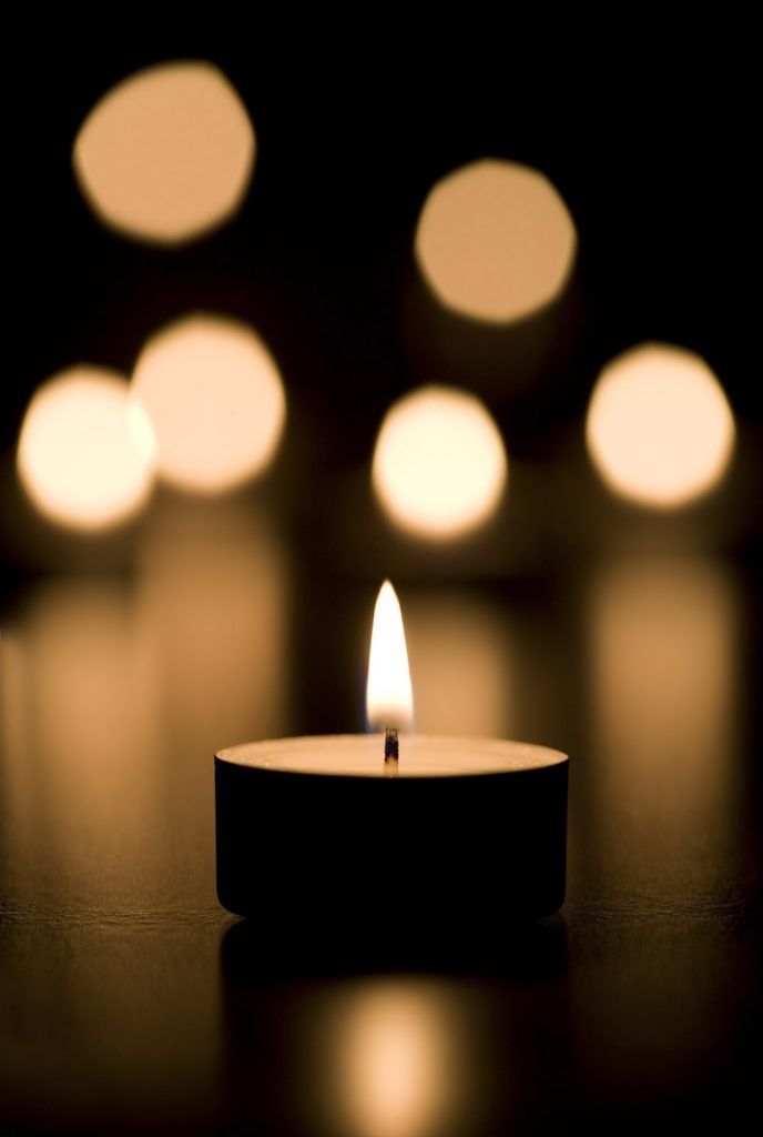 Bereavement candle