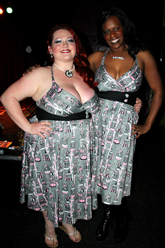 Ginger Snaps and Caramel Knowledge sporting their dress score from Free Radicals