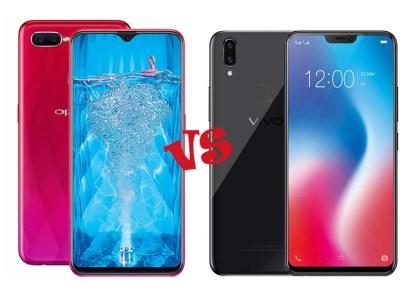 Perbedaan Oppo F7 dan Vivo V9