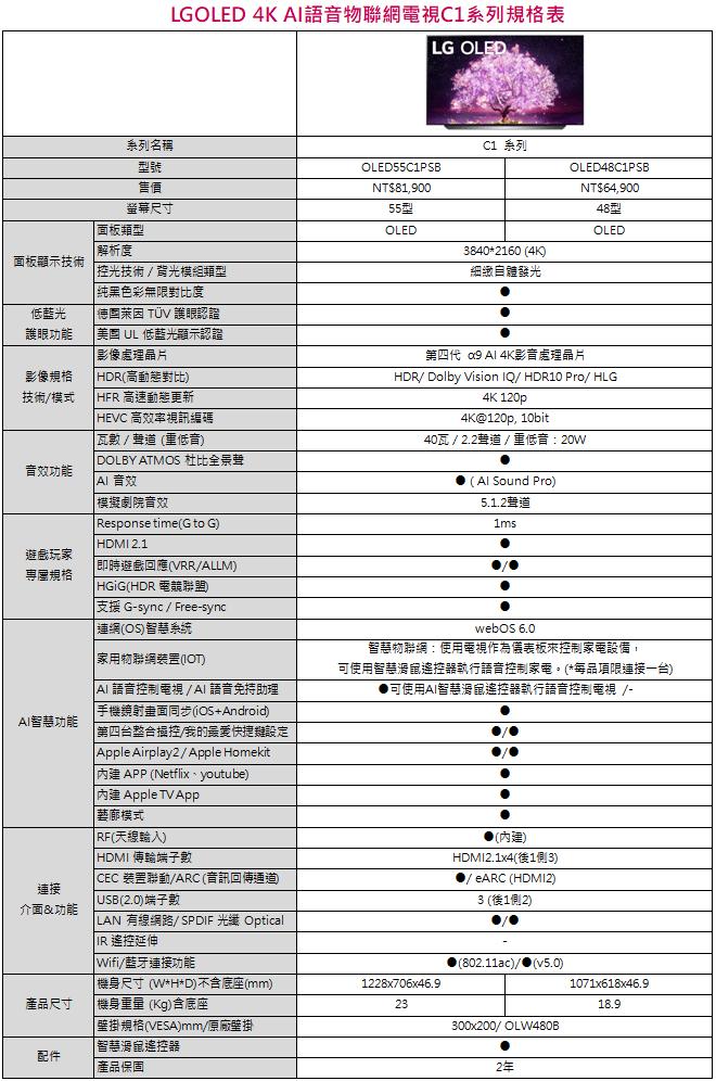 %E8%9E%A2%E5%B9%95%E6%93%B7%E5%8F%96%E7%95%AB%E9%9D%A2 2021 07 14 114408 1 - LG OLED 電視 G1、C1 及 A1 系列機種全新次世代發表