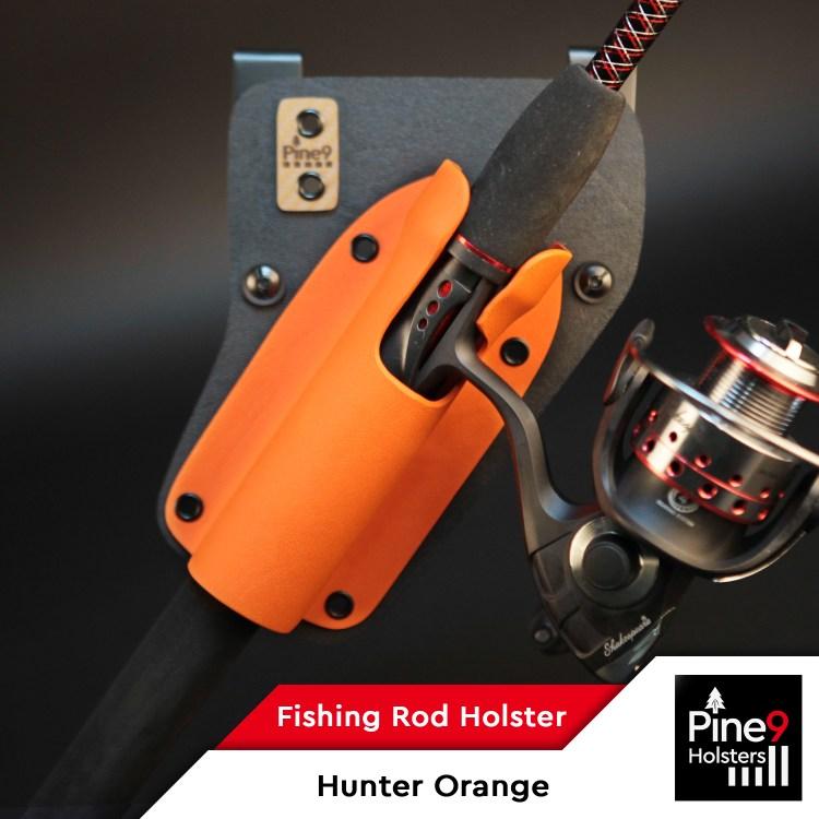 Fishing-Rod Holster_with Color Label_Hunter Orange