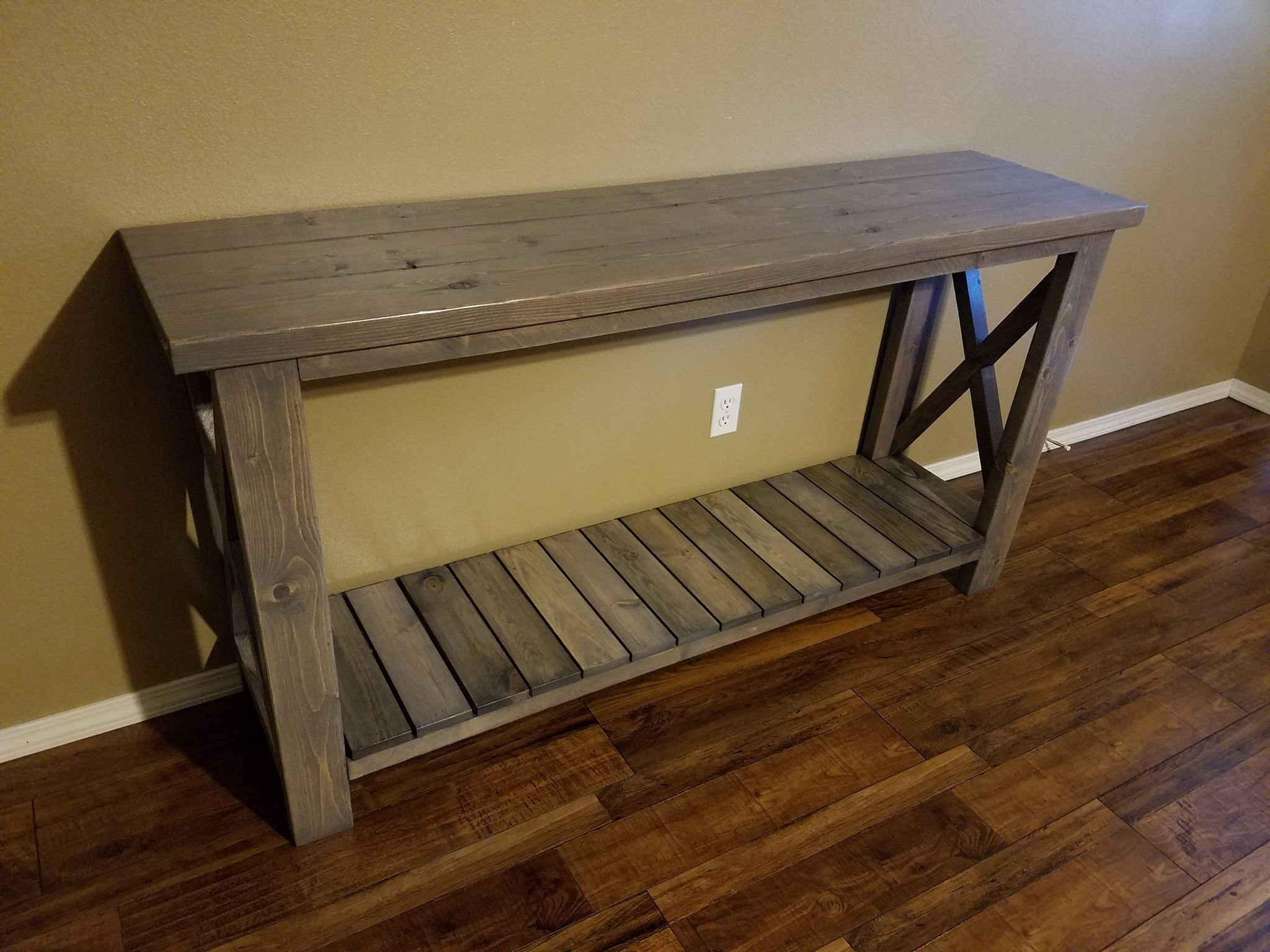Farmhouse Sofa Entryway Table PineMain