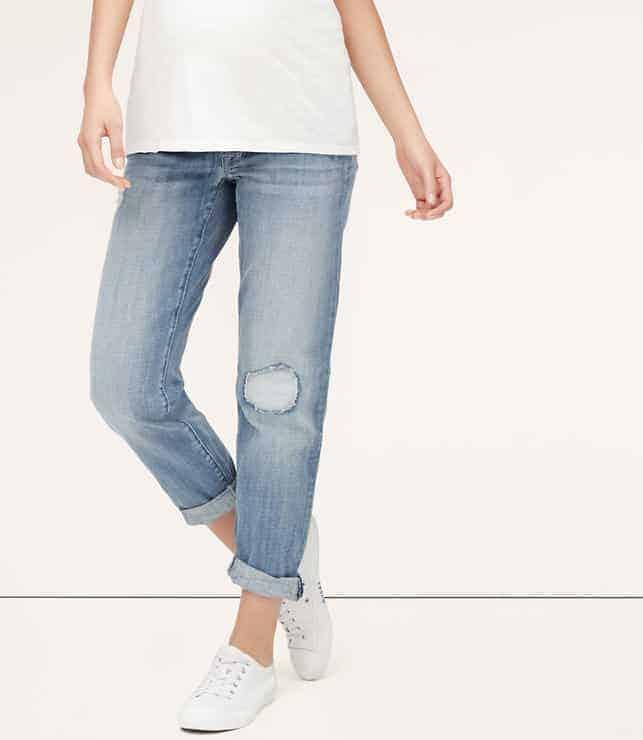 loft maternity boyfriend jeans