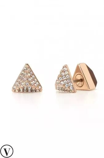 stella and dot reversible rose gold studs