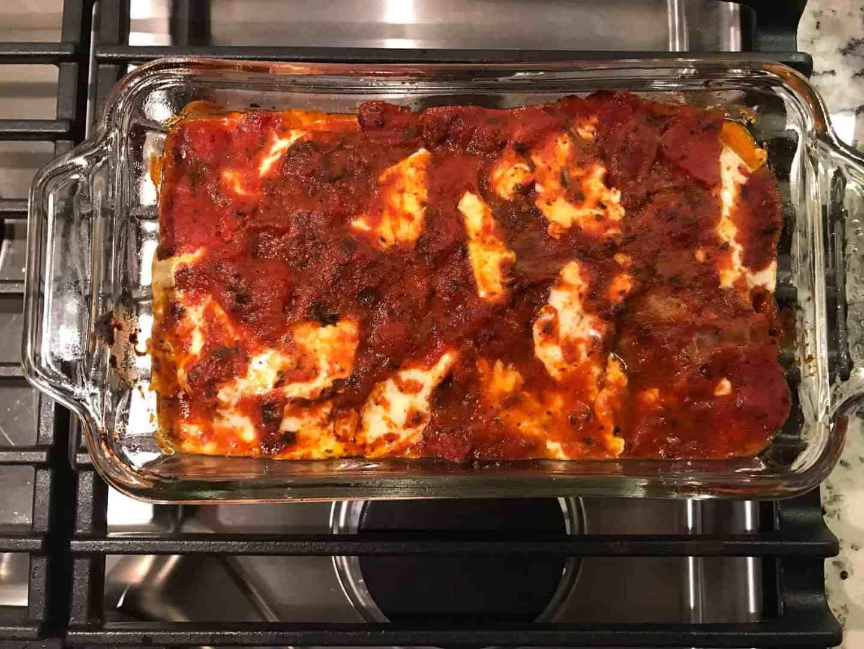 lightened up eggplant parmesan