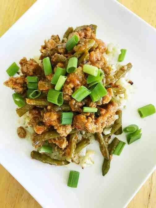 spicy turkey and green bean stir fry