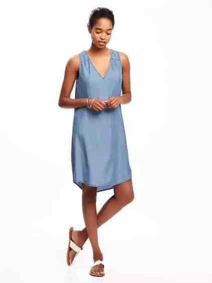 chambray dress old navy