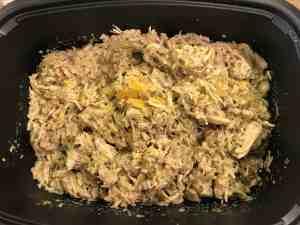 chicken + wild rice casserole