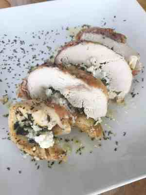 proscuitto wrapped stuffed chicken
