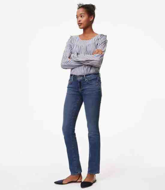 LOFT Modern Straight Leg Jeans