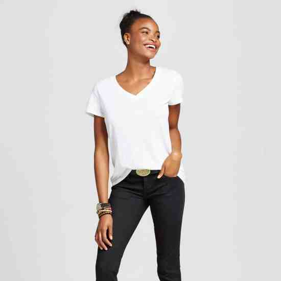 Target Mossimo Short Sleeve Relaxed V Neck T Shirt