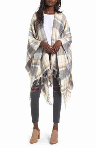 BP Plaid Cape