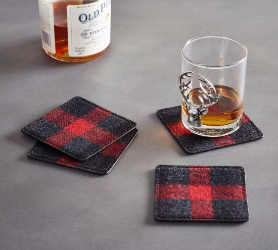 Buffalo Check Coasters Pottery Barn