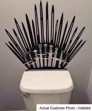 Iron Throne Toilet Decal