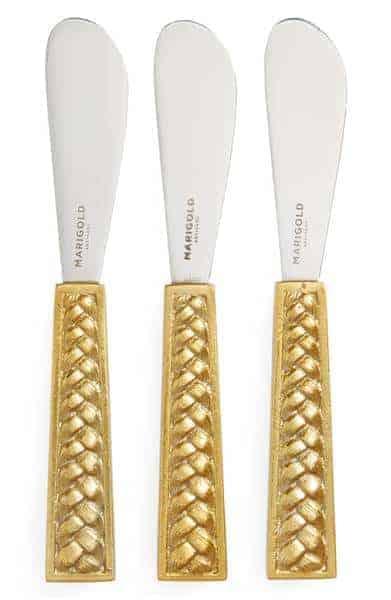 Marigold Artisans Set of 3 Braid Cheese Knives