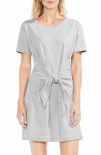 tie front t shirt dress vince camuto