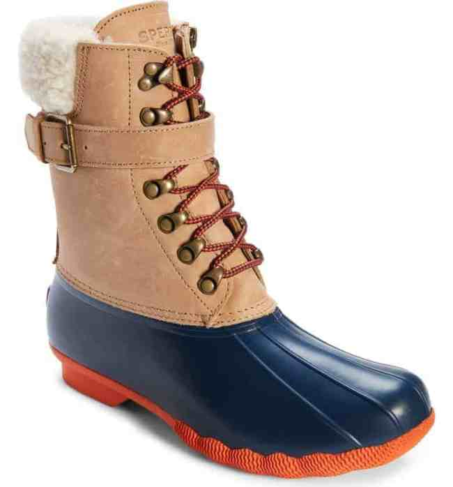 Sperry Shearwater Water-Resistant Genuine Shearling Lined Boot