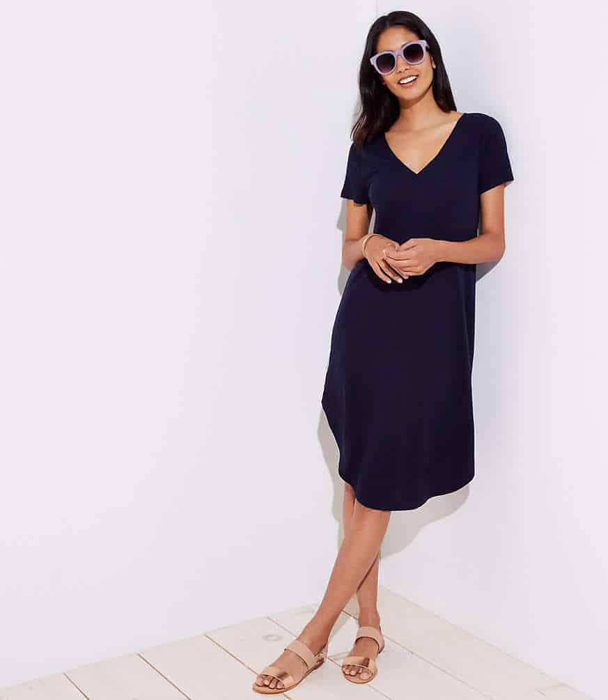 loft beach swing tee dress