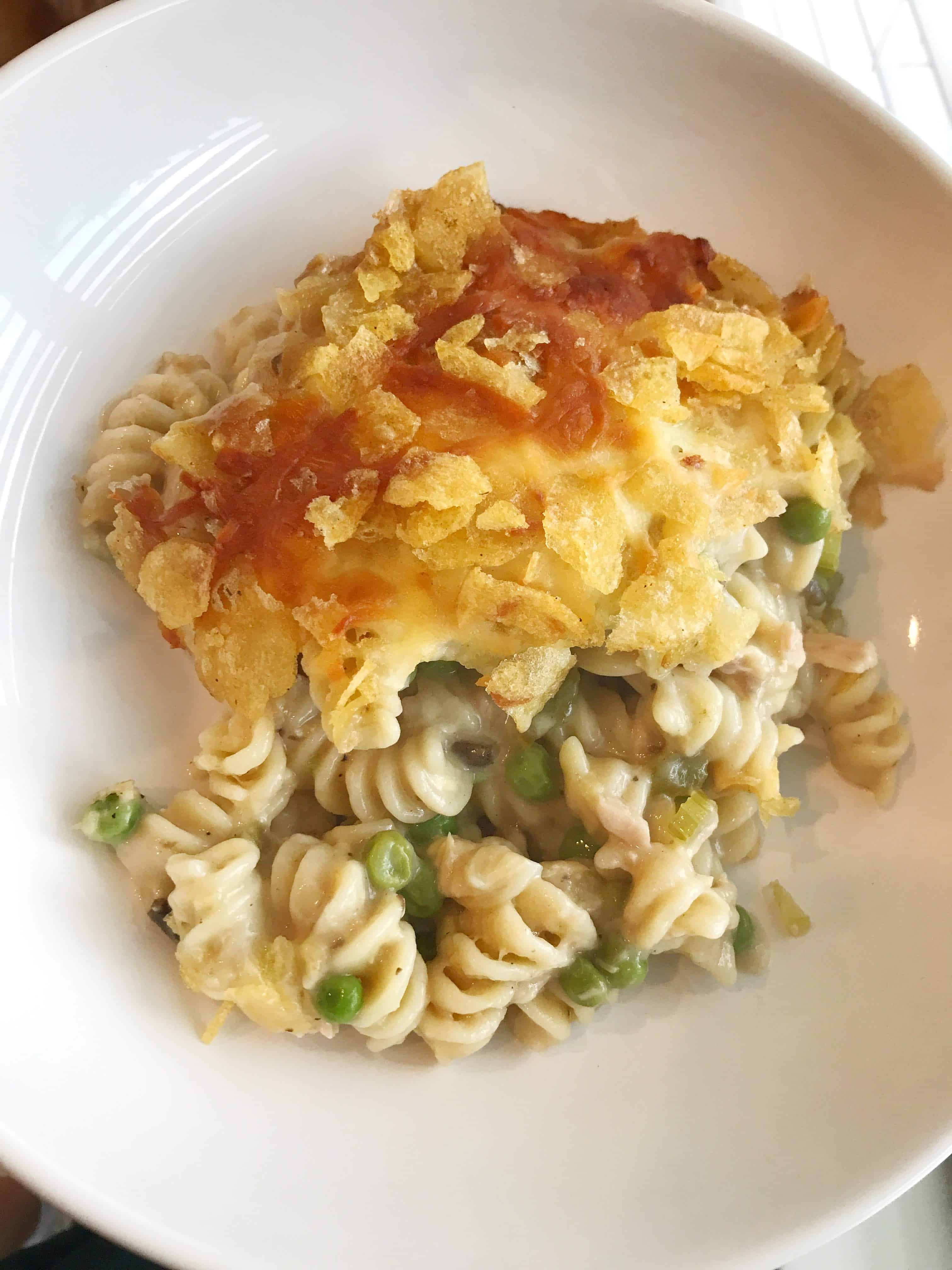 Cheesy Jalapeño Tuna Noodle Casserole