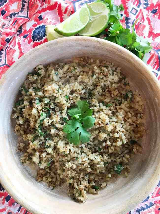 Cilantro Lime Cauliflower Rice