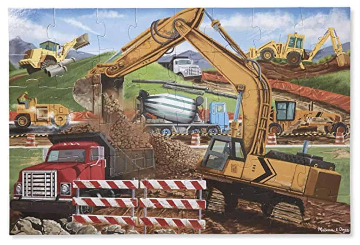 Melissa Doug Construction Floor Puzzle