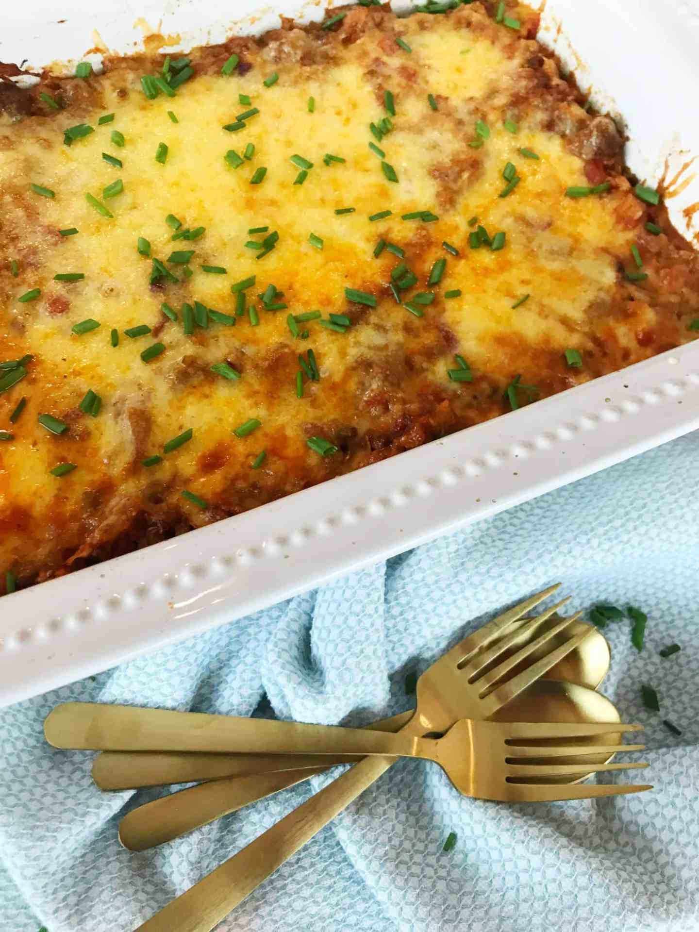 Low Carb Cheesy Beef and Vegetable Bake