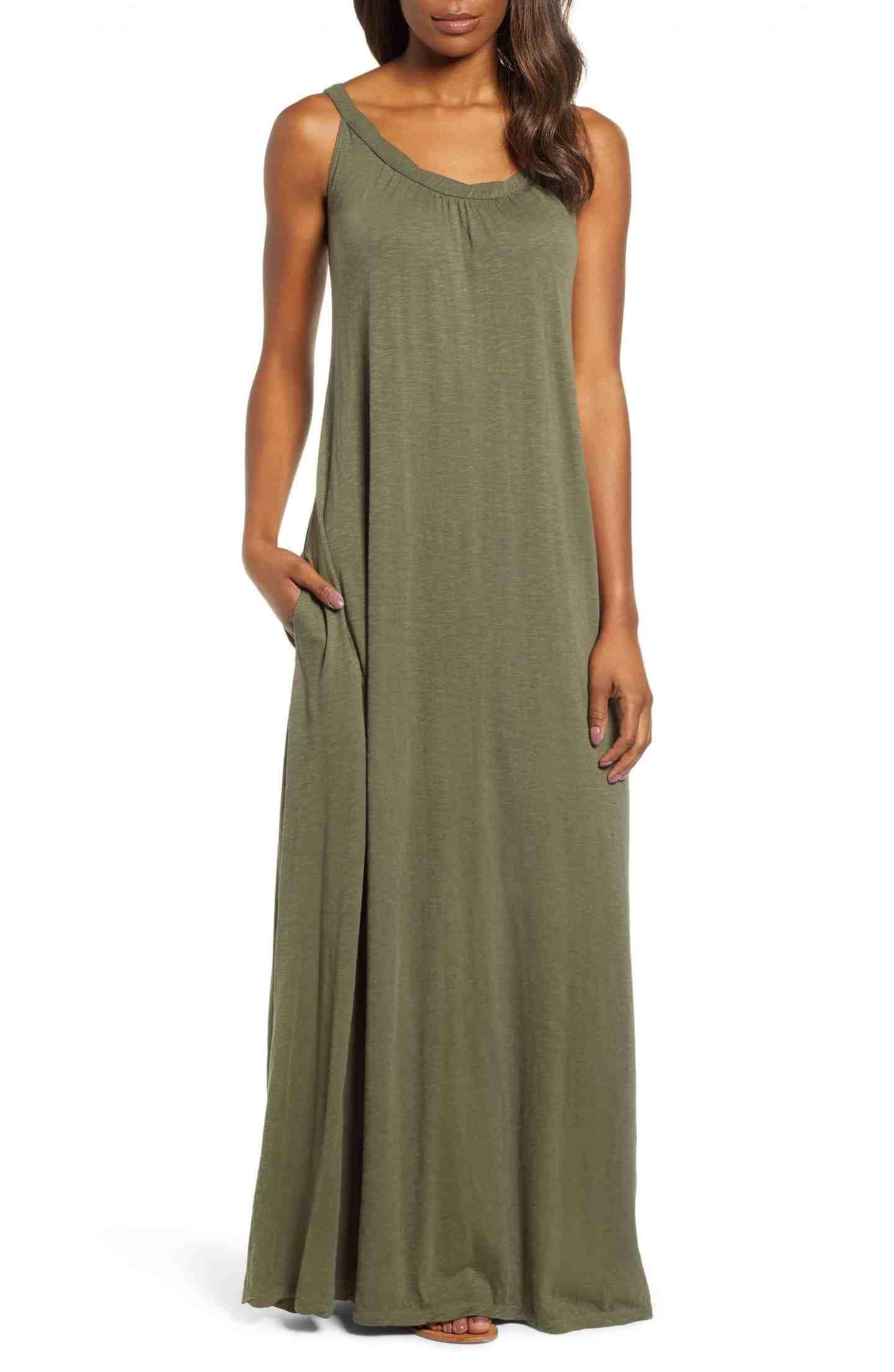 Twist Neck Maxi Dress