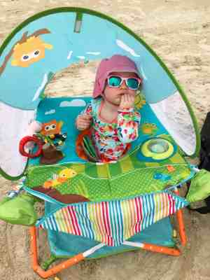 beach trip with kids and baby