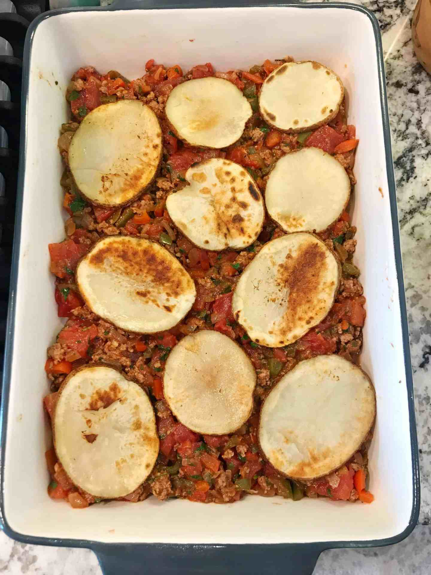 potato and lamb moussaka