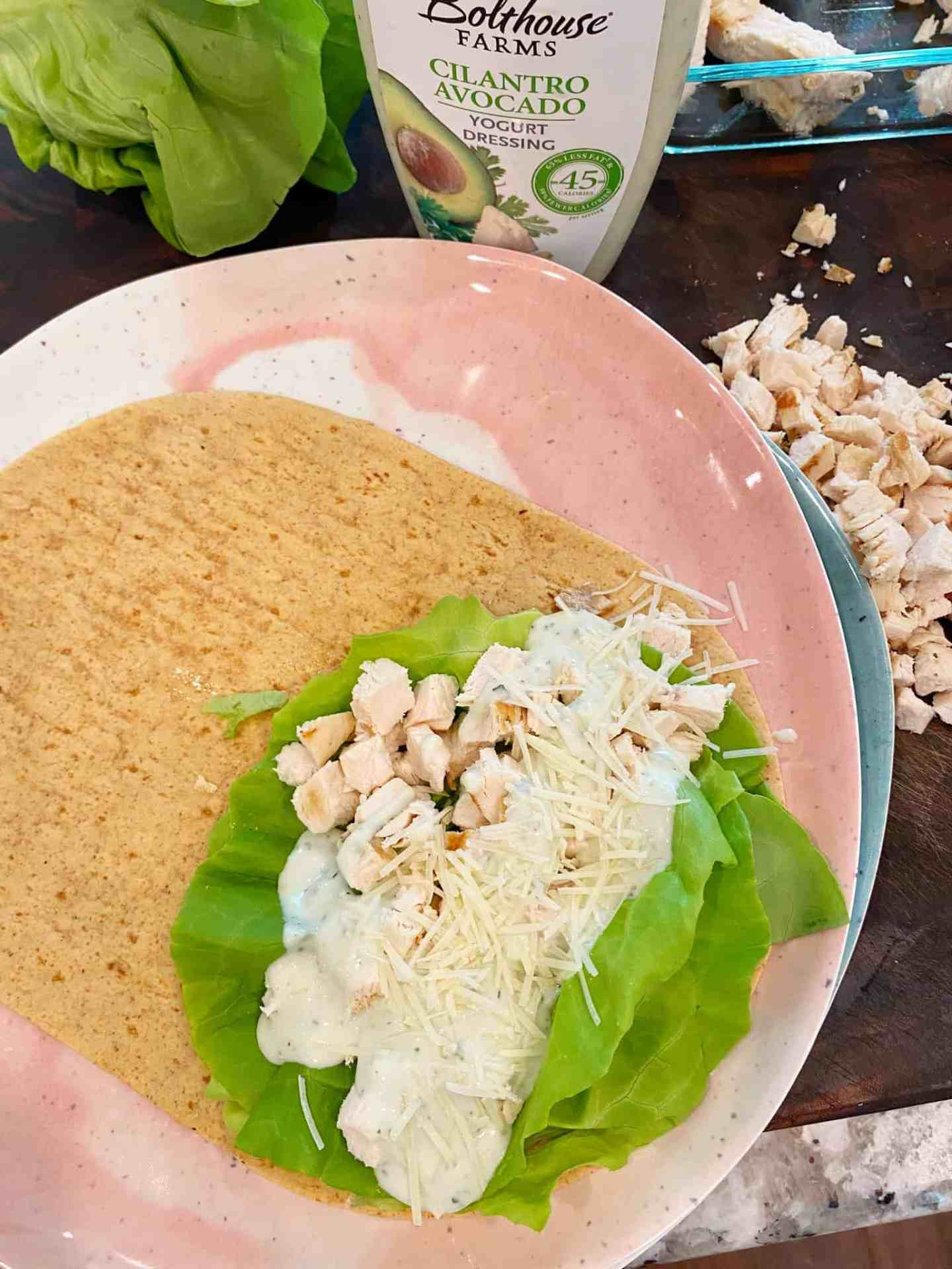 Easy-Healthy-Lunch-Ideas-Chicken-Caesar-Low-Carb-Wrap