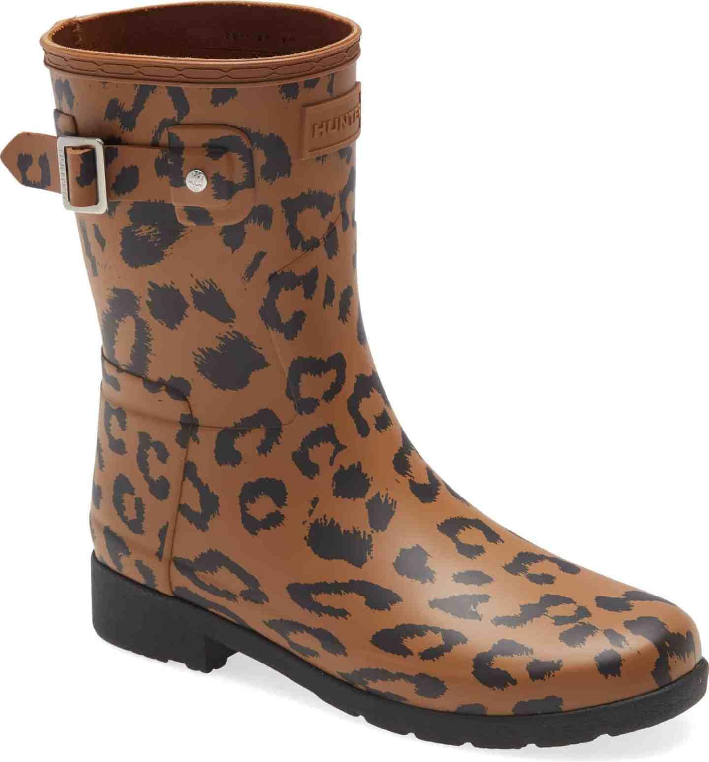 Hunter-Leopard-Print-Short-Rainboots