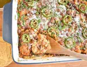 Salsa-Verde-Chicken-Tostada-Casserole-dinner