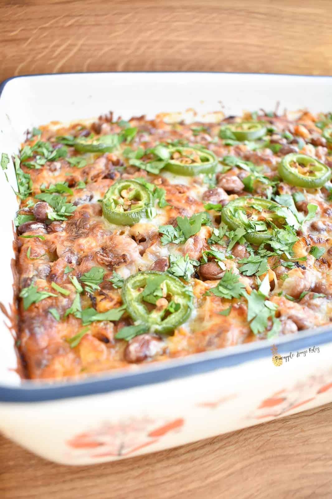 Salsa-Verde-Chicken-Tostada-Casserole-recipe