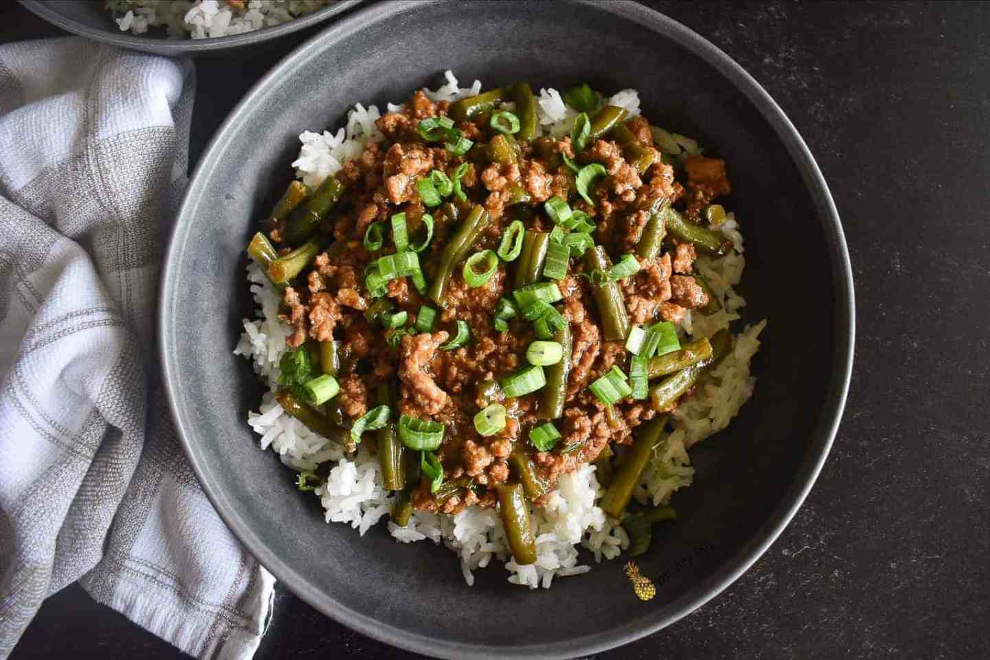 Sweet and Spicy Turkey and Green Bean Stir Fry