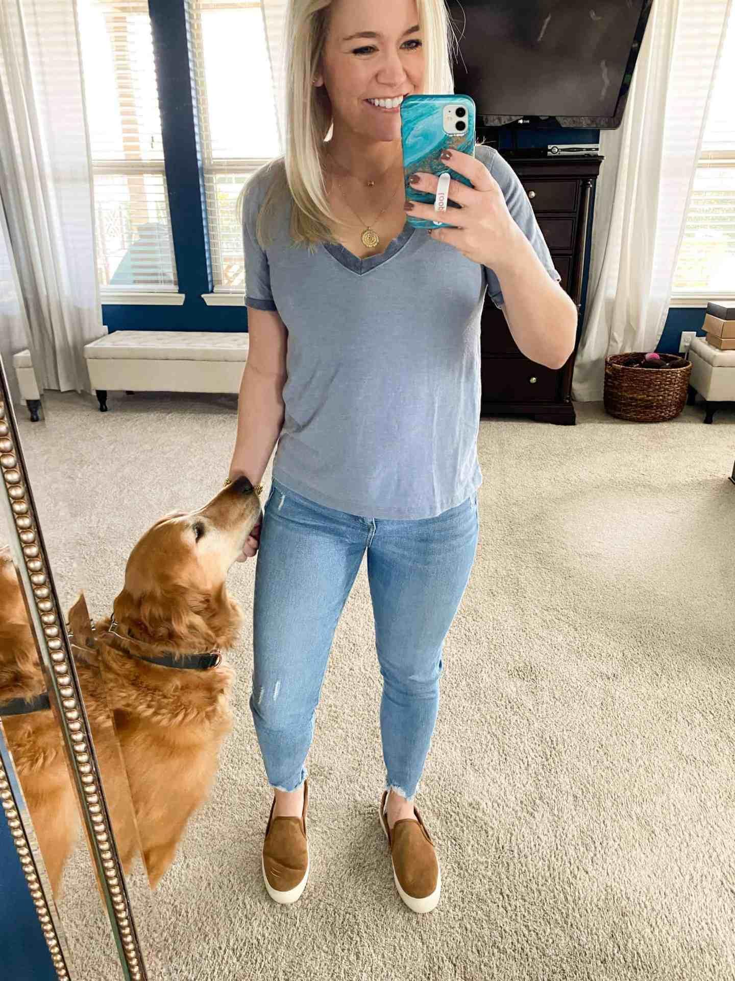 blue-casual-t-shirt-for-women