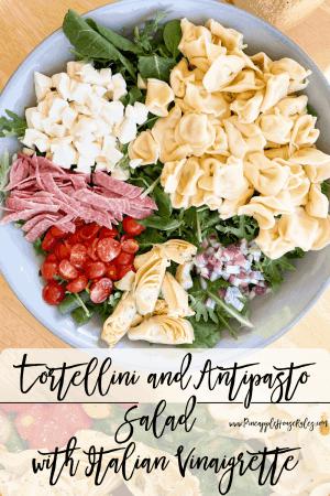 Tortellini and Antipasto Salad with Italian Vinaigrette