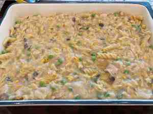 spread in a dish coated in cooking spray