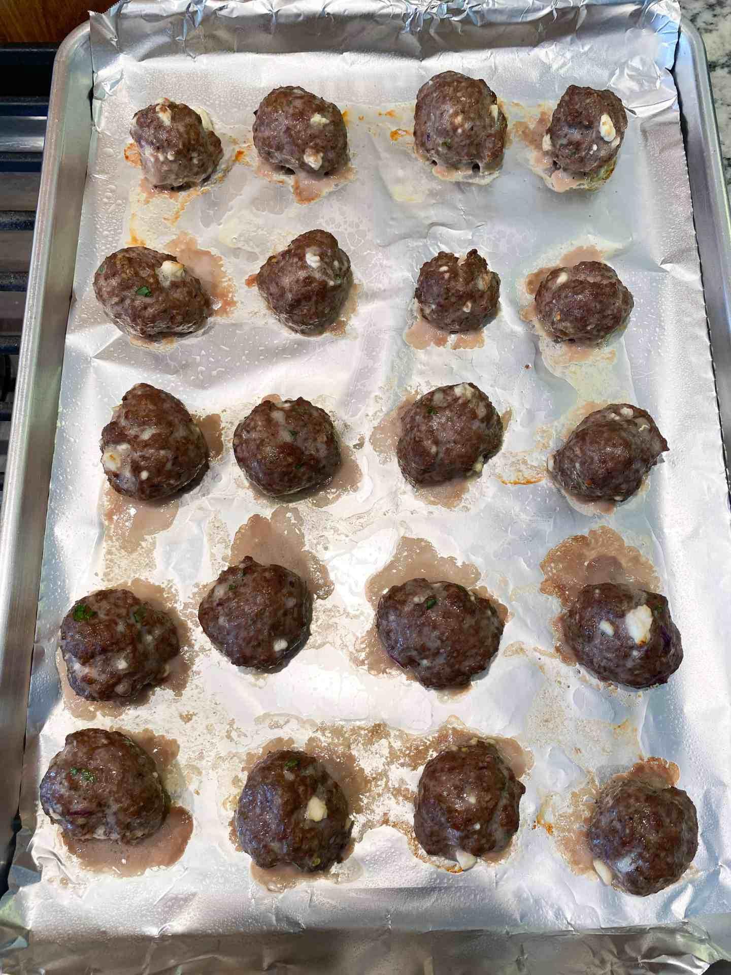 cooked greek meatballs
