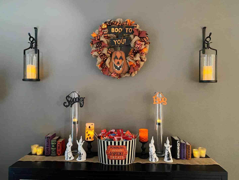halloween decor dining room