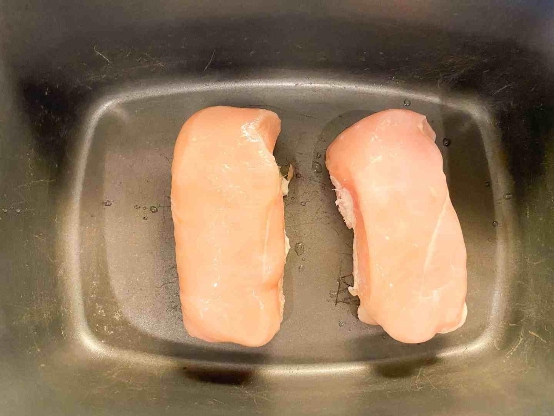 put chicken breast in slow cooker