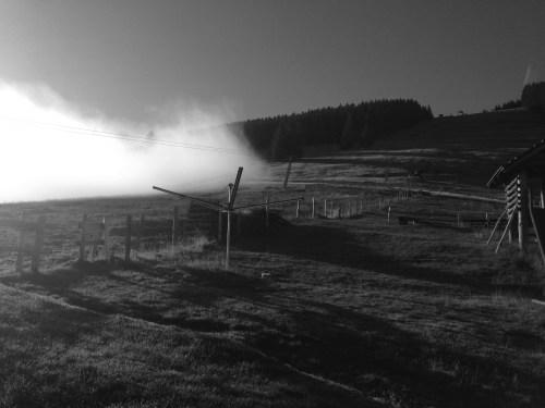 Nebel. Alpe Kalle, Allgäu - August, 2015